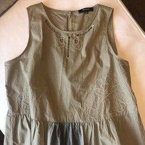 Madewell Olive Peplum Top - New With Tags